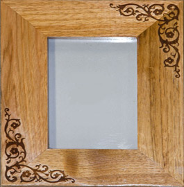 oak photo frame with one of our standard images