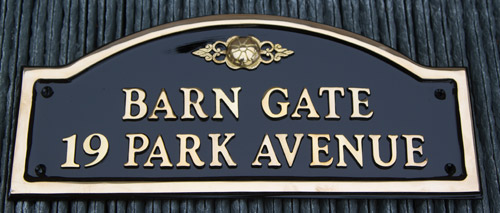 Solid cast brass name plates and house signs the sign maker - Brass name plate designs for home ...