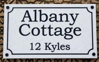 Engraved corian name plate