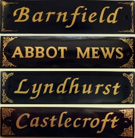 Hand Painted Town House Name Plates Black/White | The Sign Maker