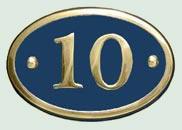 Oval Cast Brass Sign