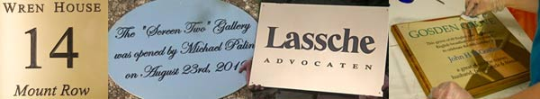 Engraved plaques in many materials
