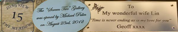 Engraved Plaques and Signs