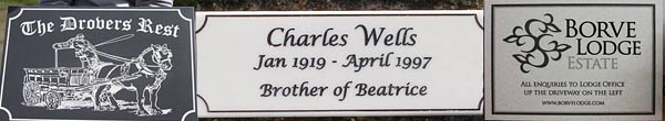 Engraved Corian Plaque