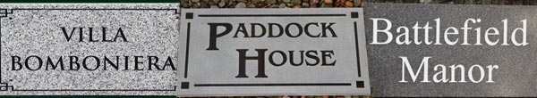 Granite House Name Plates