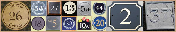 House Number Signs and Door Numbers