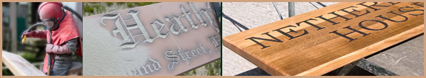 Large Wooden House Signs