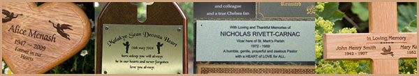 Lots of ideas for your memorial or memorial plaque