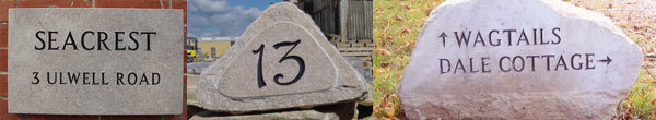 Purbeck stone signs