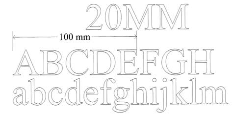 20mm letters