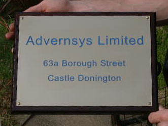 Advernsys Limited Brass Sign