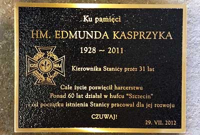 Bronze Plaque with Black Background