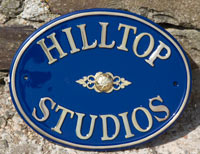 Cast Brass House Name Plate