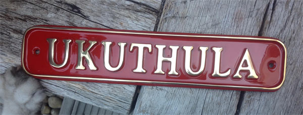 Cast Brass House Sign