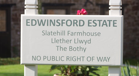 Estate Sign