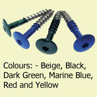 Coloured Stainless Steel Screws