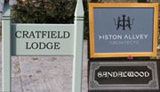 Gallery of House Signs, Business Signs, Memorial Plaques  and Memorials