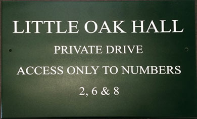Painted Sign Board - Heritage Green