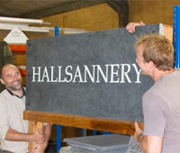 Large slate entrance sign