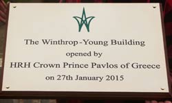 Large deep engraved brass plaque