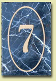 Blue Marble Number Sign
