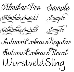 Fonts for Weddings