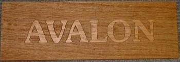 Oak Raised Letters Sign