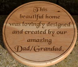 Round Oak Sign  ref - 1401.LW.038