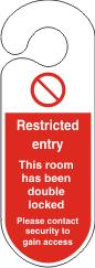 Restricted Entry Hanging Door Sign