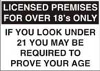 Licensed Premises For Over 18s Only