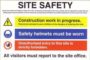 large site safety poster
