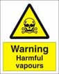 Warning Harmful Vapours