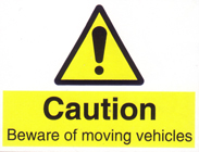 Caution Moving Vehicles