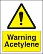 Warning Acetylene