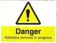asbestos removal in progress