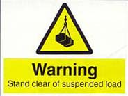 stand clear of suspended load
