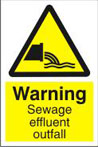 Warning Sewage Effluent Outfall