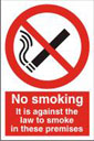 Against The Law To Smoke In These Premises