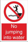 No Jumping Into Water