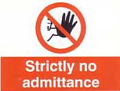 strickly no admittance