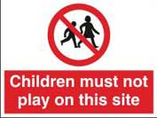 Children Must Not Play On This Site