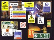 Huge range of safety signs