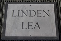 Slate House Name Plates. Fonts from top - Bookman old style Bold, Lucida Calligraphy, Bookman oldstyle, Time New Roman