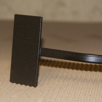 Wrought Iron Spike with flat plate for fixing to plaque with double sided adhesive tape