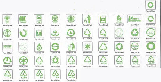 Recycling Symbols The Sign Maker