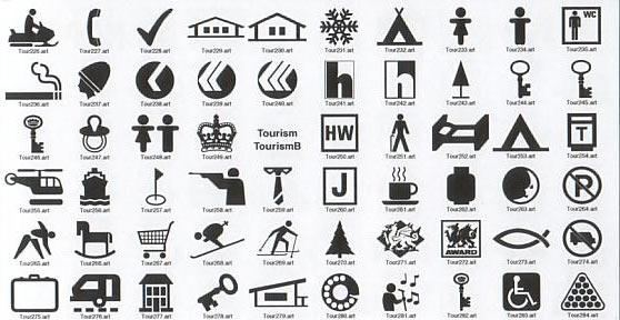 Sign Symbols Information Signs For Tourism