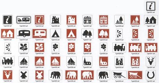 Sign Symbols Tourism Road Signs