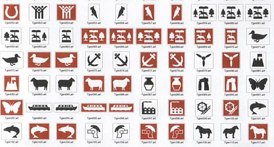 Sign Symbols - Tourism Road Signs