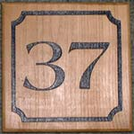 Cherry House Number with Border