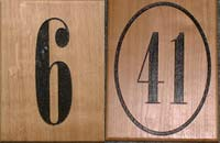 Wooden House Numbers